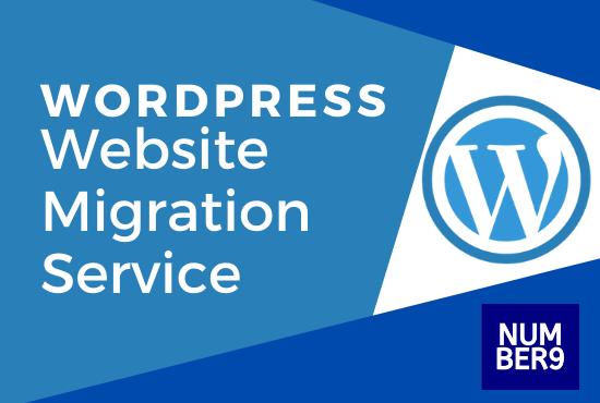 Wordpress website migration service - Number9